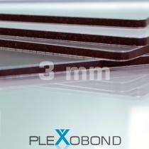 PLEXOBOND Alu-Verbund-Platten, 3 mm, silber butlerfinish