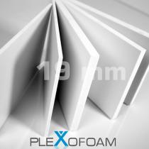 PleXofoam PVC-Schaumplatten, 19 mm, weiß