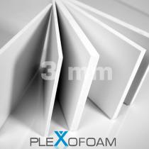 PleXofoam PVC-Schaumplatten, 3 mm, weiß