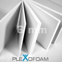 PleXofoam PVC-Schaumplatten, 6 mm, weiß