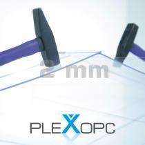 PLEXOPC Massivplatten, 2 mm, transparent