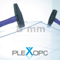 PLEXOPC Massivplatten, 8 mm, transparent