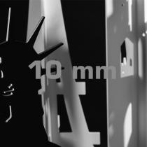 SMART-X Vollkunststoffplatten, 10 mm, weiß