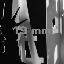 SMART-X Vollkunststoffplatten, 19 mm, weiß
